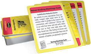 Boring Meetings SRD Cards
